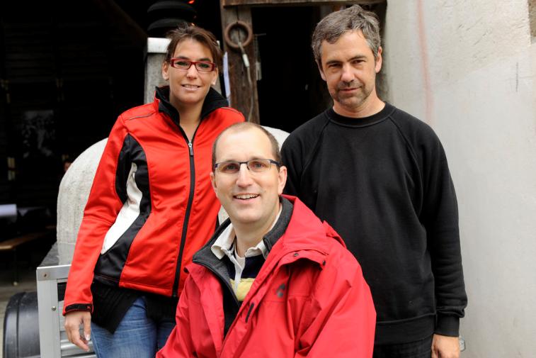 Céline, Luc et Stephan