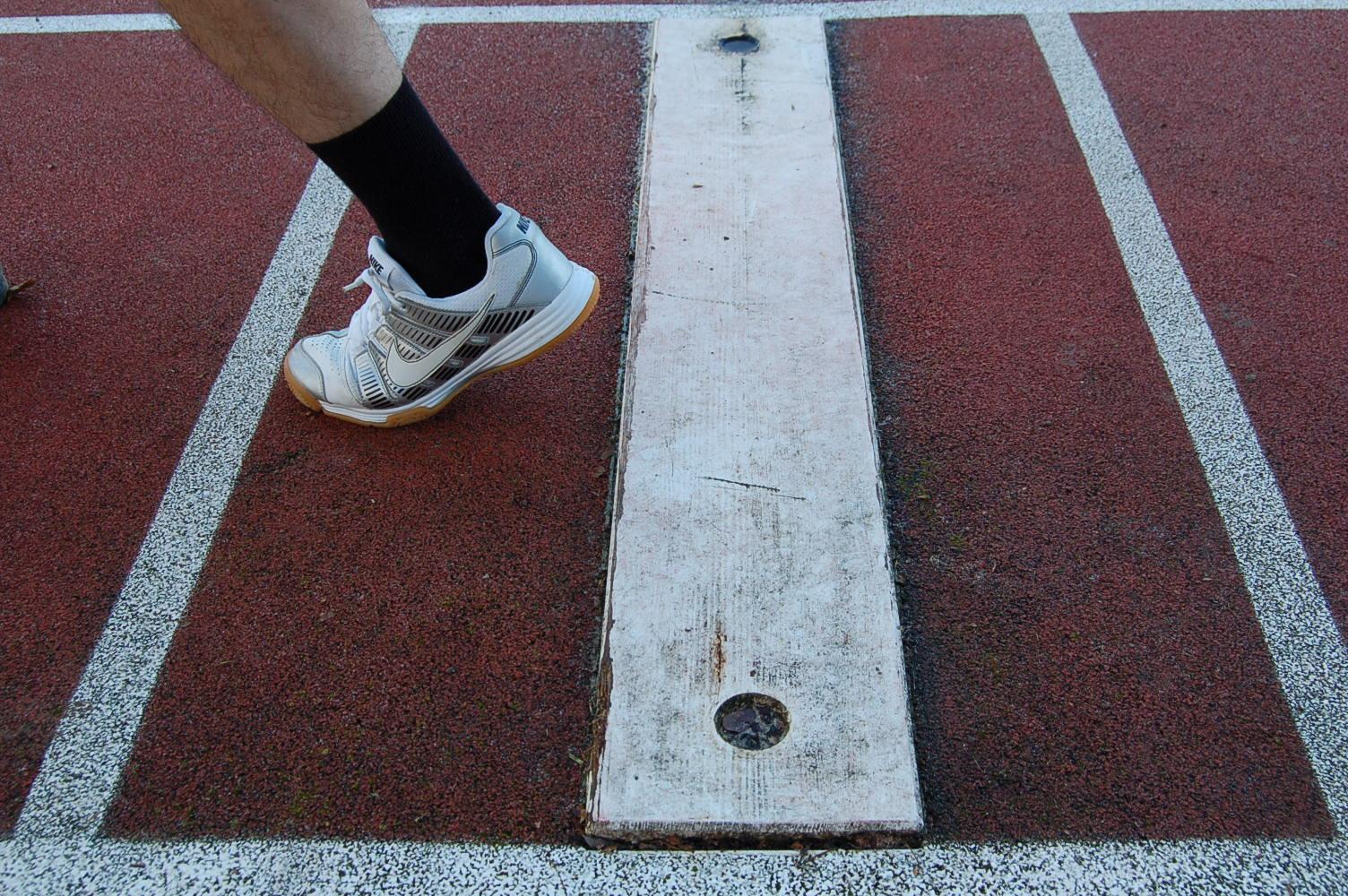 Au saut en longueur avec la zone d'appel, l'emplacement du pied d'appel est-il correct ?